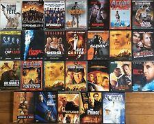 LOT 26 DVD FILMS ACTION BRUCE WILLIS (15 DVD) ET SYLVESTER STALLONE (11 DVD)
