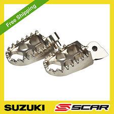 FOOTPEGS EVO SUZUKI RMZ 250 10- RMZ 450 08-18 2017 2018 TITANIUM FOOT PEGS SCAR