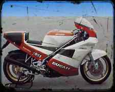 Ducati 851 Superbike Kit 3 A4 Metal Sign Motorbike Vintage Aged