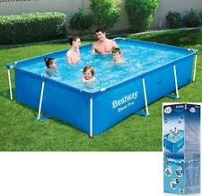 BestWay SWIMMING POOL 259 x 170 Rectangular Garden Above Ground Pool Steel