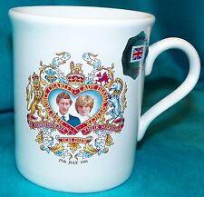 Prince William Pottery Charles Princess Diana 1981 Wedding Made in England Mug
