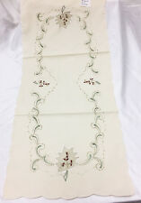 Elegant  Embroidery Table Runner Beige VCHR-20