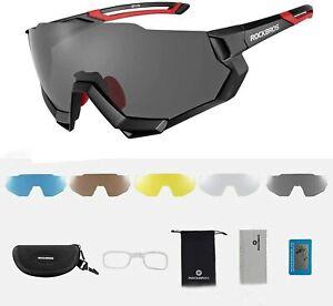 ROCKBROS Fahrradbrille Sonnenbrille Polarisierte Sportbrille UV400 für Outdoor