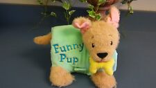 Kidsbooks Funny Pup Cloth Book Rattles and makes sounds when bone is pulled