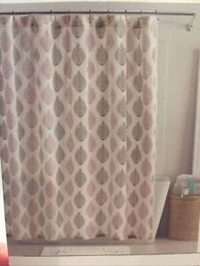 """shower curtain 100% Cotton fabric by Avery 72"""" x 72"""" Machine Washable"""