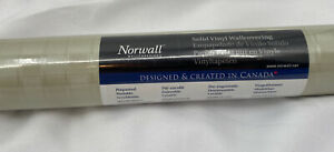 Norwall Wallcoverings Vinyl Wall Paper 10.9 Yards Ivory Gold