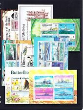 GIBRALTAR VARIOUS UNMOUNTED MINT M/SHEETS BETWEEN 1986-2010.