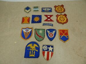 lot of 15 original WW2 US Army CLOTH INSIGNIA Patches