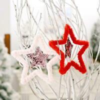 Christmas Five-pointed Star Pendant Xmas Tree Hanging Pendants NEW Decor H3W3