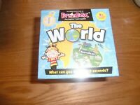 BrainBox The World 72 Cards - Fast Paced Family Quiz Card Game BRAND NEW SEALED