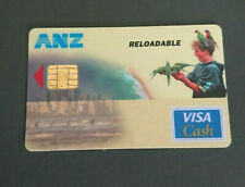 1996 VISA CASH CARD - RELOADABLE - ANZ BANK IN HOUSE TRIAL - PARROTS - RARE