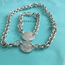 Tiffany & Co. Oval Tag Set Necklace Bracelet Authentic. New.
