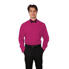 Tuxedo Fushia Shirt With Wing Tip Collar