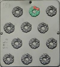 Christmas Wreath Bite Size Chocolate Candy Mold Christmas 2162 NEW