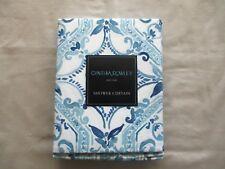 NEW Cynthia Rowley Fabric Shower Curtain FRENZA MEDALLION Blues & White
