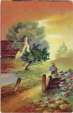 TUCK : POSTCARDS Q'ER HILL AND DALE-cCountry scene embossed -132