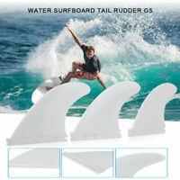 3 Pcs Surf Fins FCS2 Fins G5 Light White FCS II Tri fin Set Fiberglass Surfboard
