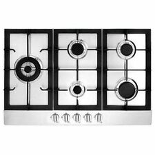 "Ancona 5 Burner 30"" Stainless Steel Gas Cooktop, Cast iron grate, No Tax"