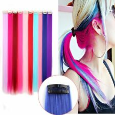 20 Inch 10pcs Set Straight Colorful Colored Color Clip In/on Hair Extensions AU