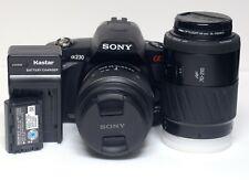 Sony ALPHA a230 Digital Camera 10.2MP DSLR 18-55mm & 70-210mm AF Lenses