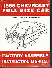 1965 CHEVROLET FACTORY ASSEMBLY MANUAL   BELAIR IMPALA MODELS