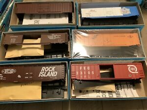 Vintage Lot Athearn Unbuilt HO Train BOX Car NOS New Old Stock Lot of 6