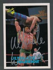 1990 WWF Classic ULTIMATE WARRIOR Wrestling Rookie Card AUTOGRAPHED JSA centered