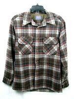Pendleton Maclean Vintage Mens M Board Shirt Tartan Plaid Wool Button Front