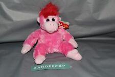 TY Retired Beanie Baby Original Charmer Pink Gorilla With Error Tag