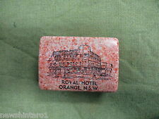 #D12.  ROYAL  HOTEL, ORANGE NSW  BAKELITE SOAP / VANITY  HOLDER