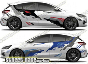 Ford Focus RALLY 008 racing decals stickers graphics vinyl