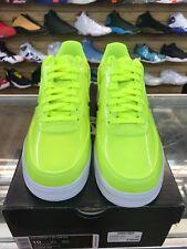 Nike Air Force 1 07 Lv8  Patent Leather Volt Neon AJ9505-700  SZ10 100%AUTHENTIC