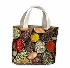 Indian Spices Tote Shopping Bag For Life - Curry Restaurant