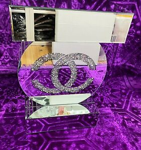 Mirrored Console Table Vintage Crystal Side Table Crushed Diamond Unit UK Stock