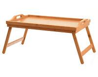 Frühstück Tisch Betttablett Serviertablett HOLZ Tablett Klappbar 50x30x24cm