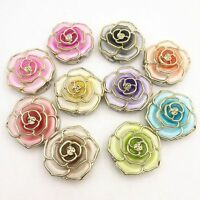 Rose Flower Hanger Foldable Handbag Purse Bag Hook Table Desk Holder-#
