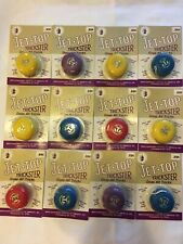 NOS Yo-Yo Yoyo Lot Yellow Purple Red JET-TOP Trickster Counter Display Yo Yo