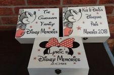shabby vintage chic disney memories micky mouse personalised memory box keepsake