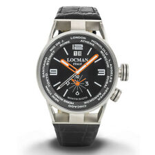 Locman Montecristo World orologio uomo Dual time cassa in acciaio e titanio