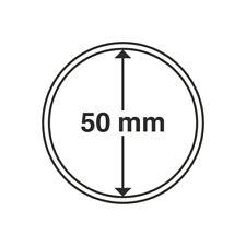 Capsules numismatiques rondes 50 mm pour monnaies, médailles.