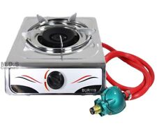 Stove Single Burner Propane Gas Stainless Steel Portable Camping Outdoor New
