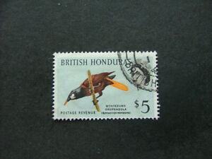 British Honduras QEII 1962 $5 multicoloured SG213 G-FU