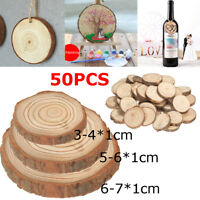 50 Pcs Wedding Supplies Rustic Natural Wood Pine Tree Slice Disc Centerpiece