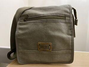 Diesel Canvas Messenger Bag - Khaki Used