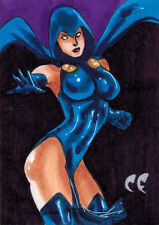 DC Comics Women of Legend Sketch Card by Chris Foulkes of Raven