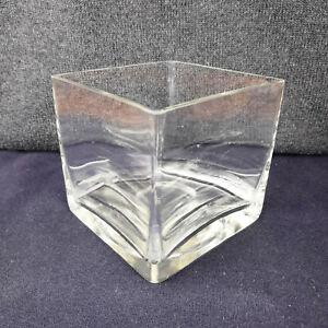 Square Glass Vase 11x11cm