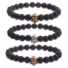Men's Bracelets Zircon Bronze Star Wars Darth Vader Lava Bead Stone Bracelets