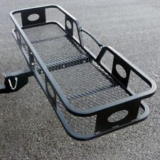 500lbs Capacity Black Folding Cargo Carrier Hitch Luggage Basket 60""