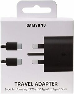 Genuine Samsung 25W Super Fast Charger Plug & Cable For Galaxy S21 S21+ Ultra 5G