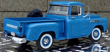 1 1950s Chevy Pickup Truck Vintage Classic Model Car Carousel Blue Metal 18 Race